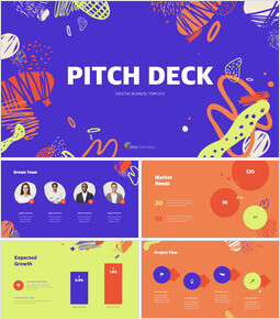 Sfondo astratto Pitch Deck Design slideshare PPT_00