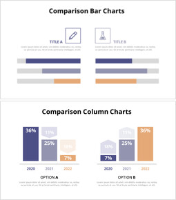 Animated Templates - Comparison Bar Chart Diagram_6 slides