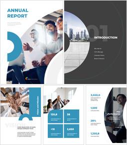 연간 보고서 템플릿 디자인 인터랙티브 PPT_00