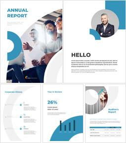 연간 보고서 템플릿 디자인 팀 프레젠테이션 템플릿_00
