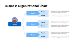 Arrow And Box Business Organizational Chart Hierarchy Presentation Slide_00