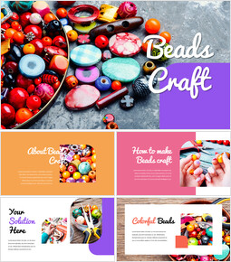 Beads Craft powerpoint themes_00