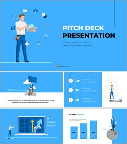 Blue Business Illustration Pitch Deck Powerpoint Presentation Video powerpoint animation_00
