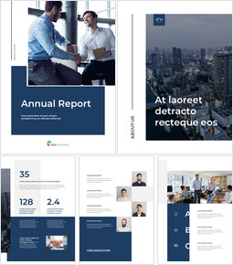 Blue Layout Annual Report Best Presentation Design_00