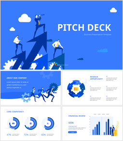 Blue Pitch Deck Template Design Animation Templates powerpoint animation_13 slides