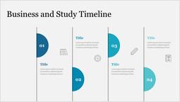 Cronologia degli studi e degli affari Layout singolo_1 slides
