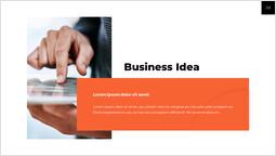 Idea imprenditoriale diapositiva di presentazione_2 slides