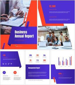 비즈니스 다목적 연례 보고서 Google 파워포인트_00