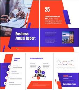 비즈니스 다목적 연례 보고서 제안 프레젠테이션 템플릿_00