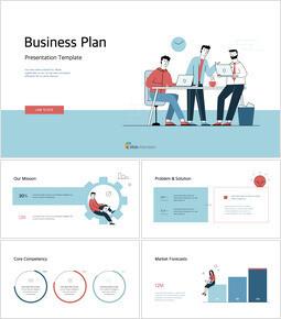 사업 계획 그림 피치덱 디자인 PPT 키노트_00