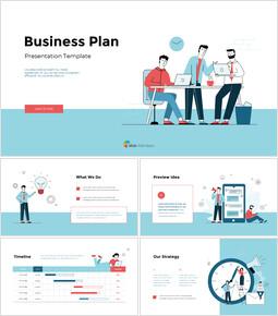사업 계획 그림 피치덱 디자인 슬라이드 프레젠테이션_00