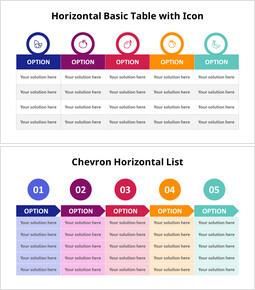 Chevron Horizontal Comparison List_6 slides