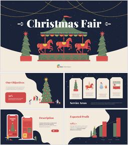 크리스마스 페어 디자인 피치덱 프레젠테이션 PowerPoint 템플릿 디자인_00
