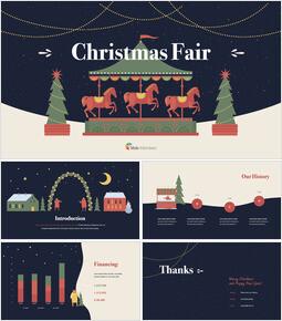 크리스마스 페어 디자인 피치덱 테마 키노트 디자인_00