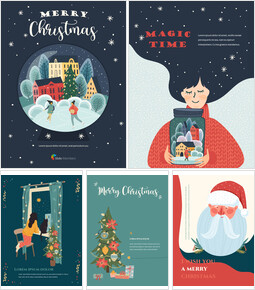 Christmas Illustration Vertical Design PPT Model_00
