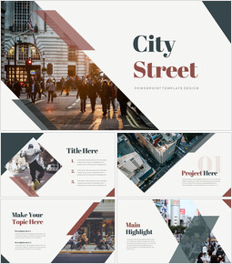 City Street Proposal Presentation Templates_40 slides
