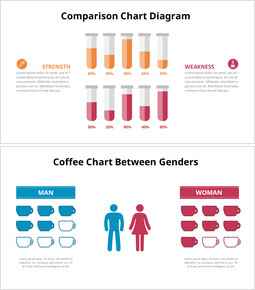 Comparison Chart Diagram powerpoint animation template_6 slides