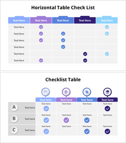 Comparison Check List Table_14 slides
