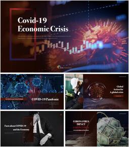 Covid-19 경제 위기 멀티 프레젠테이션 키노트 템플릿_00