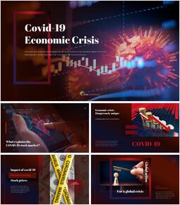 Covid-19 경제 위기 피피티 템플릿 디자인_00