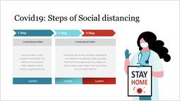 Covid19 : 사회적 거리두기의 단계 슬라이드 덱_00