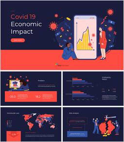 Covid 19 경제적 영향 프레젠테이션 템플릿 피치 프레젠테이션 템플릿_00