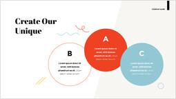 私たちのユニークなものを作成する ピッチデッキデザイン_2 slides