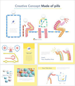 Creative Concept Made of Pills keynote theme_40 slides