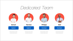Diapositiva pagina team dedicata diapositiva di presentazione_1 slides