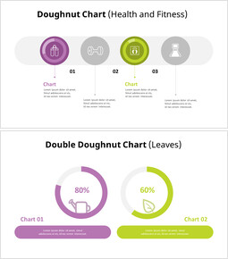Donut Chart with Infographic_6 slides