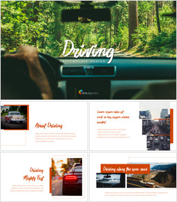Driving company profile ppt template_40 slides