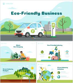 Umweltfreundliches Geschäft PowerPoint-Präsentation PPT_00