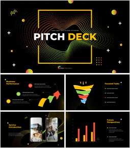 Modelli PowerPoint animati di Electronic Pattern Pitch Deck Design_00
