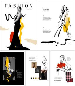 Diseño de diseño de libro de investigación de moda descargar presentaciones de powerpoint_00