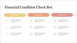 Financial Condition Check Box PPT Design_2 slides