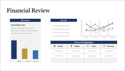 Financial Review with Chart Single Deck_4 slides