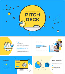 Modello animato Pitch Deck Layout Design piatto_00