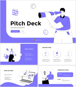Illustrazione piana Pitch Deck Design Design Brevi modelli_00