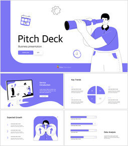 Illustrazione piana Pitch Deck Design Keynote windows_00