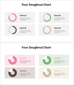 Four Doughnut Chart with Box_00
