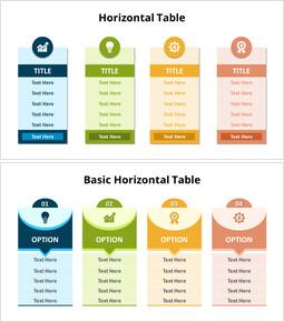 Four Horizontal Table List_10 slides