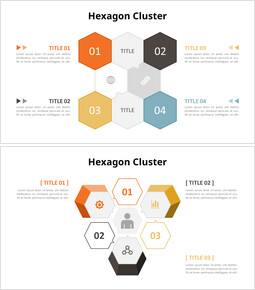 Hexagon Cluster?Diagram powerpoint animation template_00