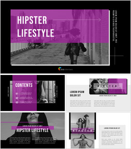 Hipster Lifestyle Presentation Templates Design_00