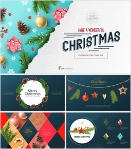 Hope you have a wonderful christmas Modern PPT Templates_00