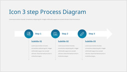 Icon 3step Process Diagram Template_1 slides