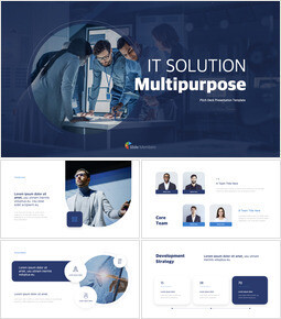 IT Solution Multipurpose Template Simple Keynote Template_13 slides