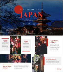 Japan Design der Firmenprofilvorlage_00
