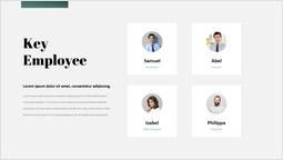 主要な従業員のスライドデッキテンプレート スライドのページ_1 slides