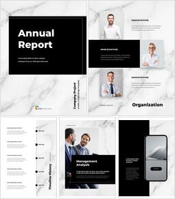 대리석 배경 디자인 연간 보고서 Google 프레젠테이션 템플릿_00