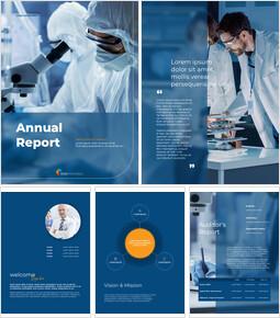 의학 과학 연구 연례 보고서 프레젠테이션 슬라이드 디자인_00